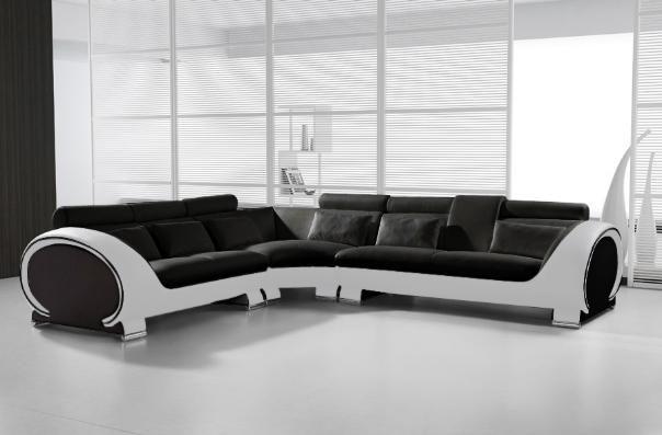 SAM® Ecksofa Schwarz Weiß Vigo Combi 4 Couch 254 X 286 Cm Demnächst !