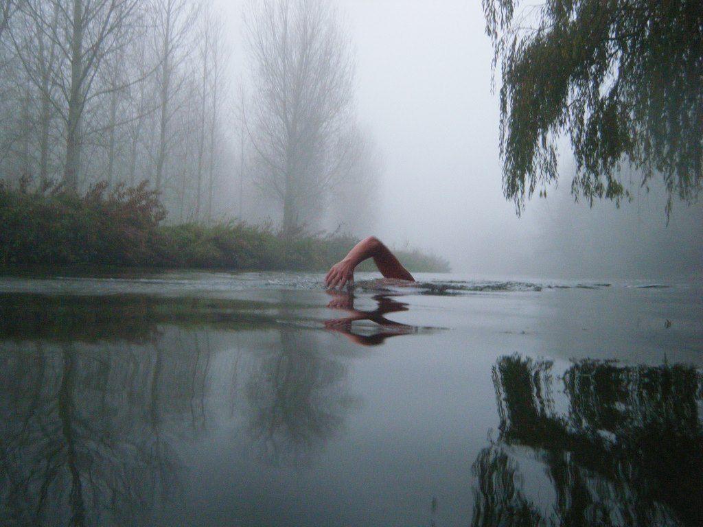 Daniel Martin, Swimming in the Nene at Tansor