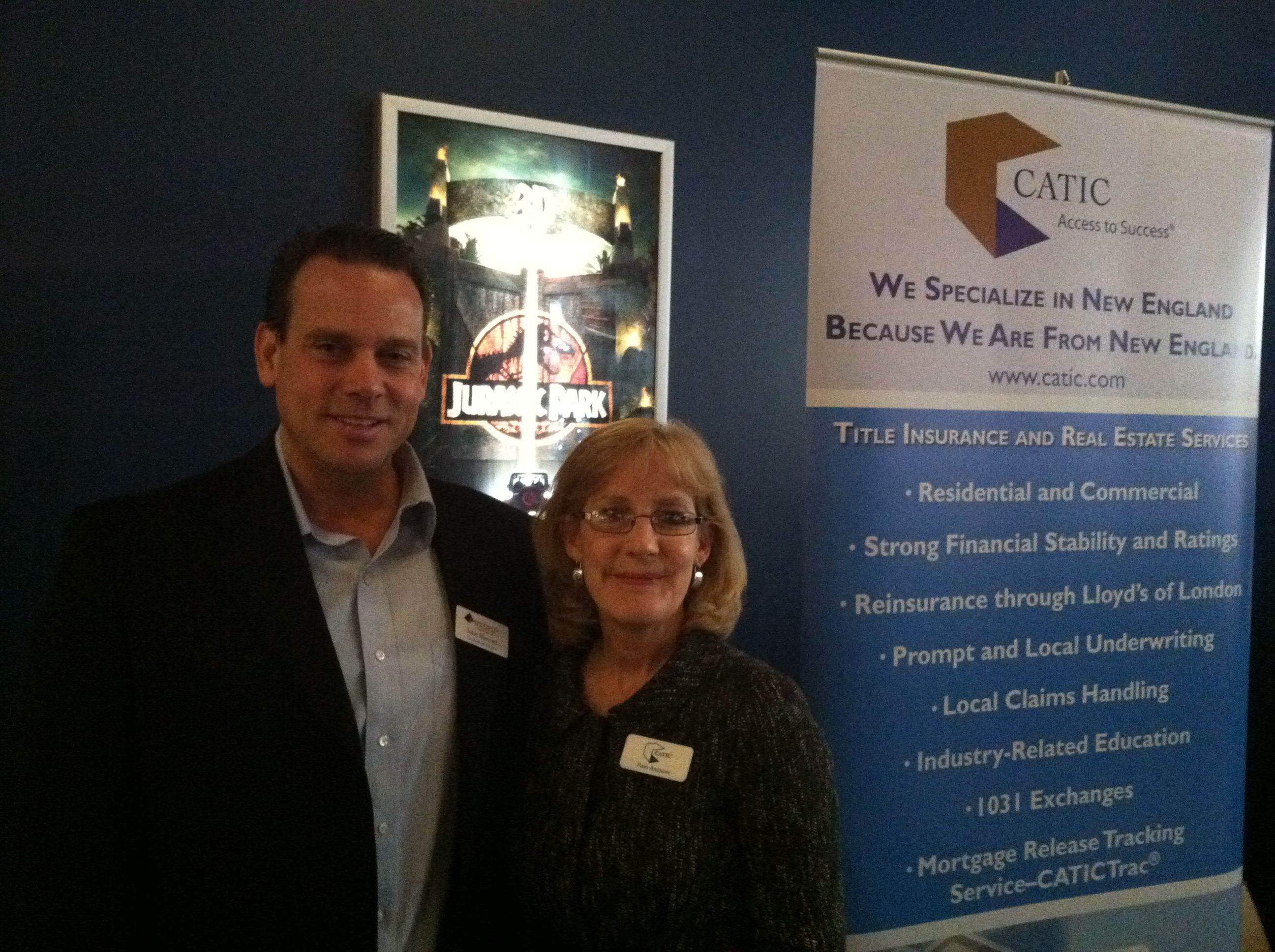 Here Is A Photo Of John Marroni And Pam Anzuoni From Catic At A Seminar Carter Law Office Organized At Jordan Fu Title Insurance Lloyd S Of London Underwriting