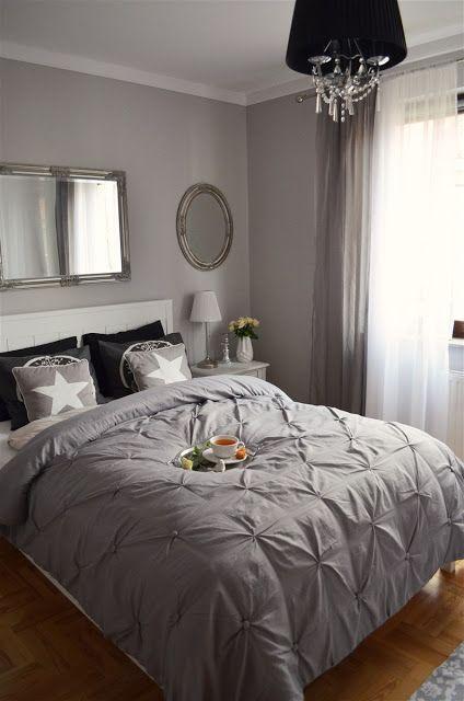 Szara Sypialnia Glamour Bedroom Bedroom W 2019 Bedroom