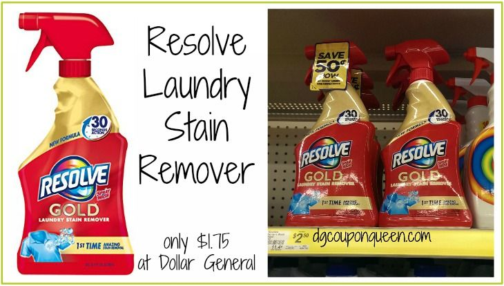 Resolve Laundry Stain Remover Only 1 75 At Dollar General Dg