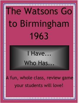 The Watsons Go to Birmingham-1963 Fun Activities
