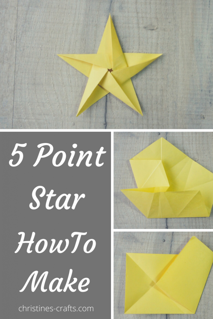How to Make a 5 Pointed Star - Origami Tutorial ~ Christine's Crafts