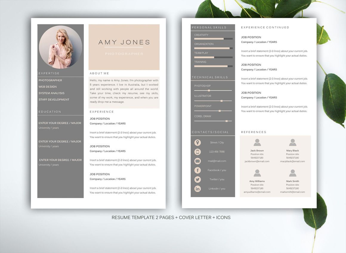 32 best resume templates images on pinterest resume design design