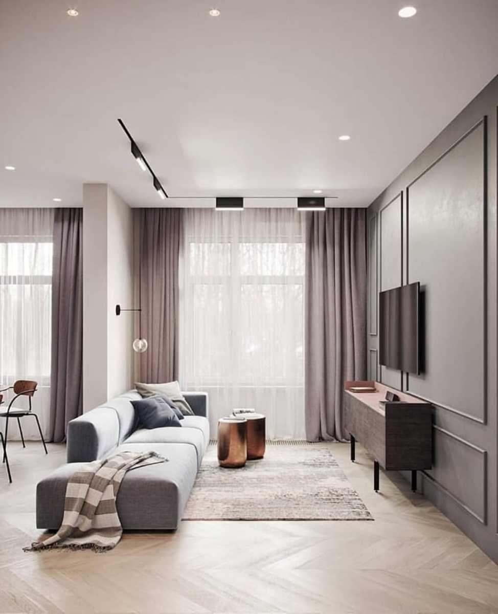 Minimal Interior Design Inspiration   12   Curtains living room ...