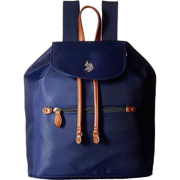 b4587644760 U.S. POLO ASSN. Maiden Nylon Backpack (Navy) Backpack Bags ( 30) ❤ liked on  Polyvore featuring bags, backpacks, navy, nylon backpack, strap backpack,  ...