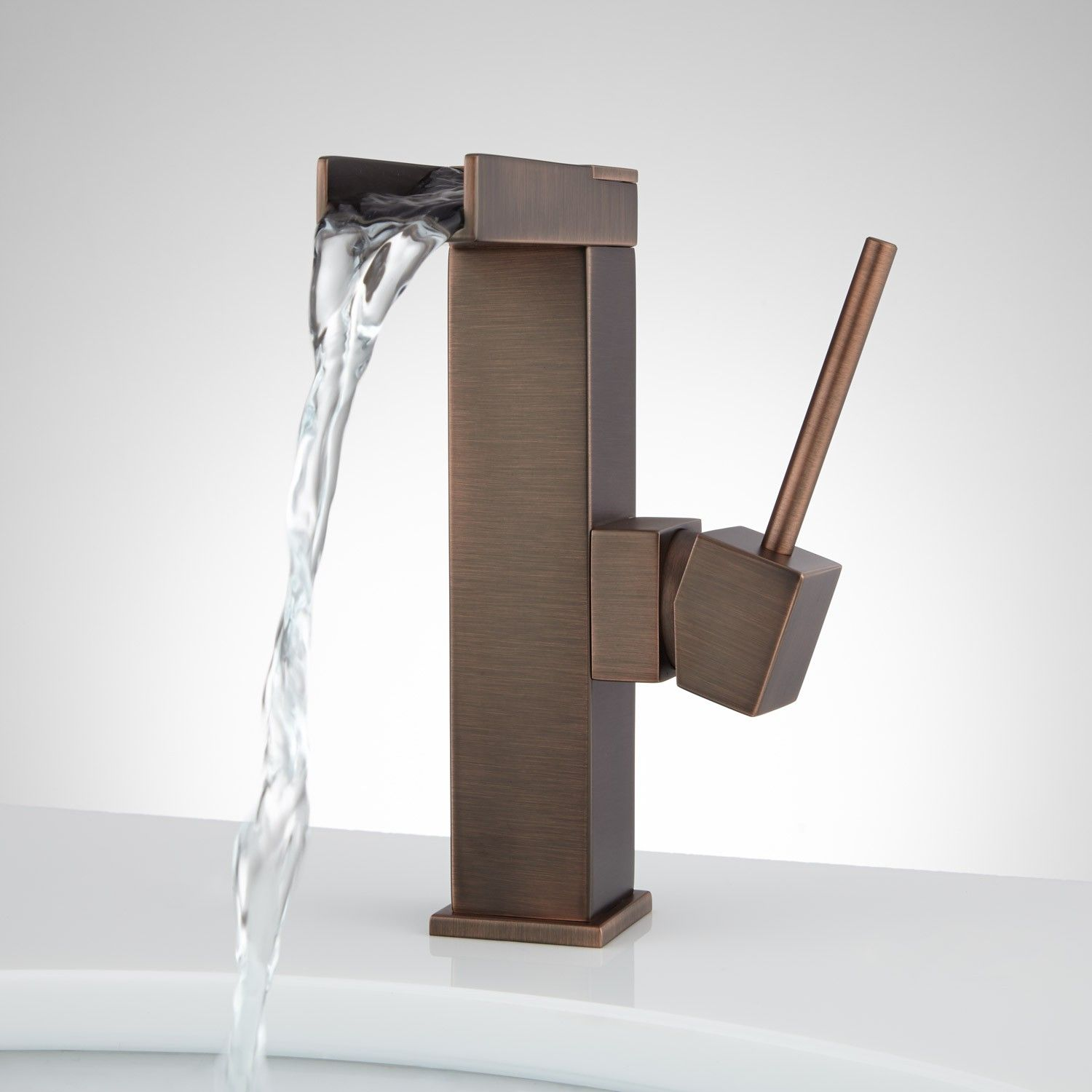 Xaiver Single-Hole Waterfall Bathroom Faucet | Bathroom ...
