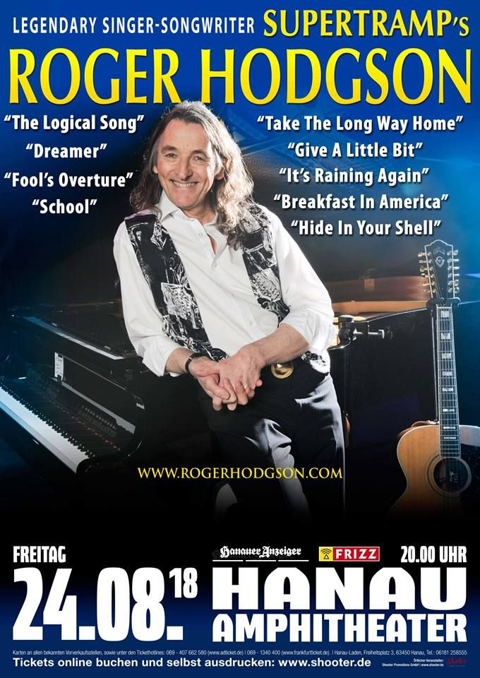 Supertramp´s ROGER HODGSON - Breakfast in America World Tour 2018 - würmer in der küche