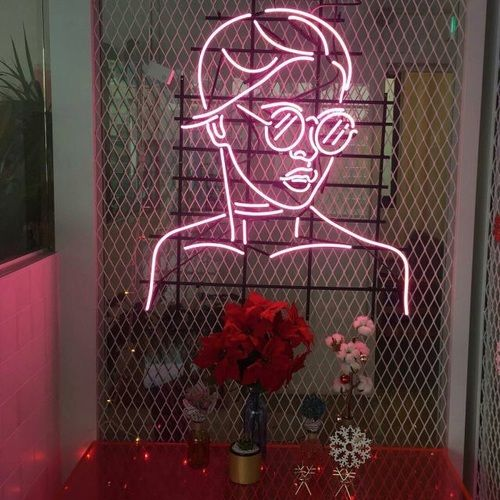 Bedroom Neon Signs Best Bedroom Ceiling Design Bedroom Athletics Black Friday Halloween Bedroom Decorating Ideas: Image De Pink, Tumblr, And Flowers