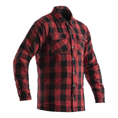 RST 2115 Lumberjack CE Mens Armoured Motorcycle Motorbike Shirt – Red Chequered …