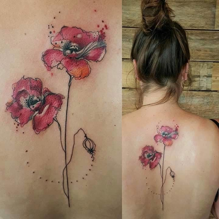 Get some inspiration for your watercolor tattoos flower