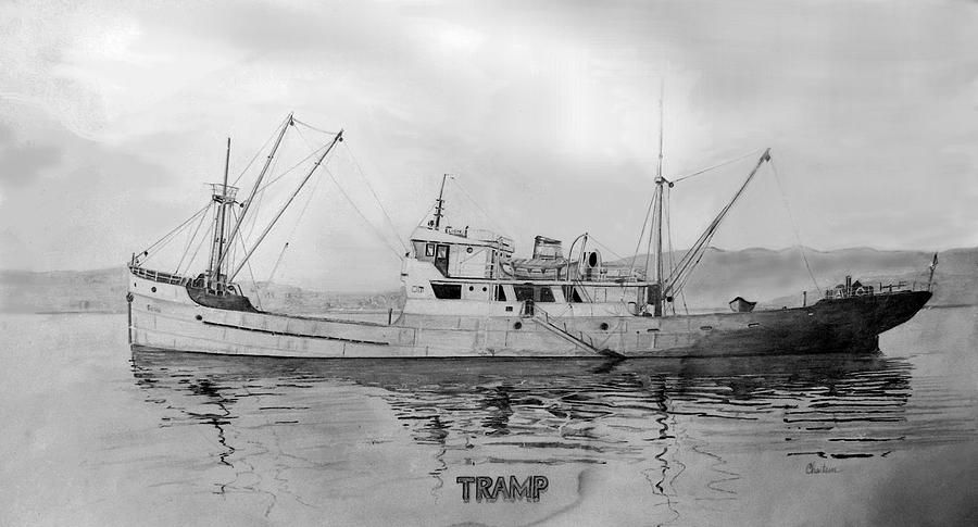 Tramp Freighter   The Tramp Mixed Media
