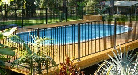 above ground aluminium swimming pool fence source poolsswimmingsnet - Above Ground Pool Fence