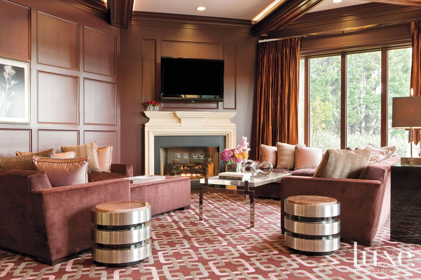 Neutral Mediterranean Living Room - Luxe Interiors + Design