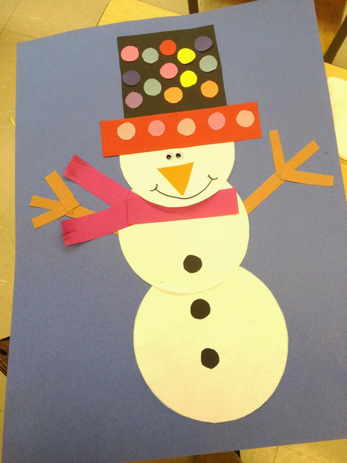 Doodle Bugs Teaching Snowman Craftivity Art Project For