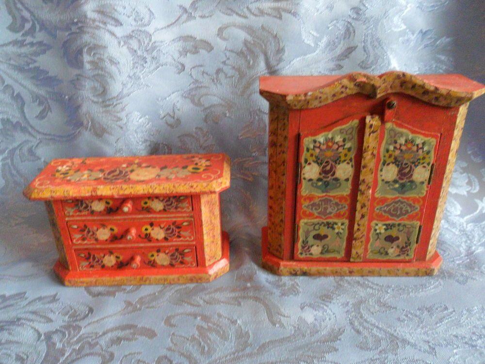 alte kleine Puppenstuben Schrank und Kommode eBay