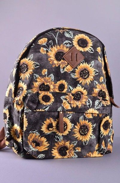 9cd5cc6ec0e Sunflower printed #backpack | Florals in 2019 | Bags, Sunflower ...