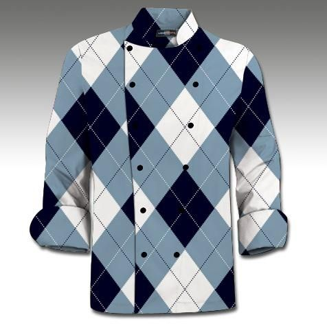 Blue Amp White Loudmouth Golf Mens Made To Order Chef Coat