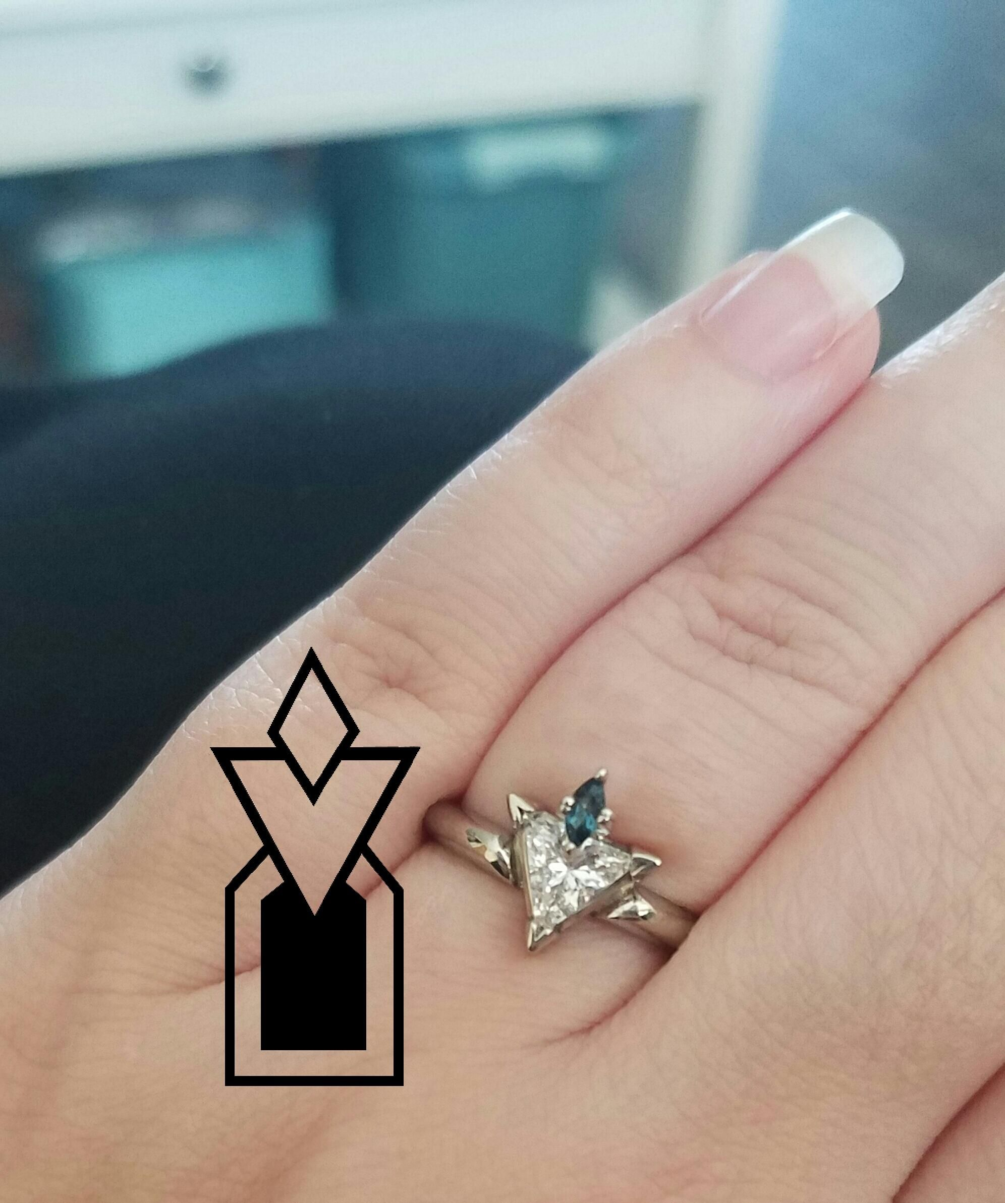 My Husband Designed Me A Skyrim Ring For My Birthday! #games #Skyrim  #elderscrolls #BE3 #gaming #videogames #Concours #NGC