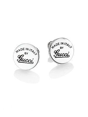 5ba7788127f Gucci Sterling Silver Signature Stud Earrings