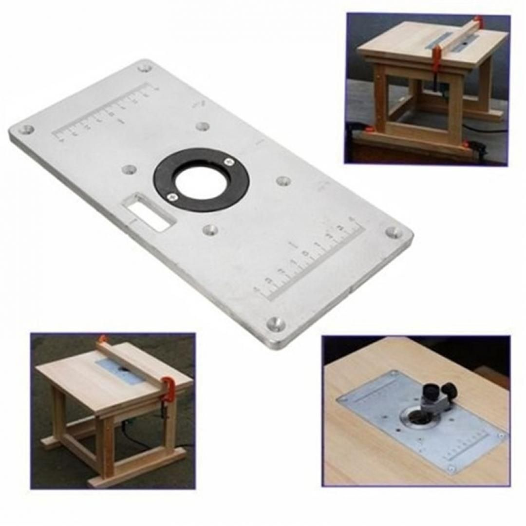 Aluminium Routers Table Insert Plate Woodworking Bench Wood Router Trimmer Mode
