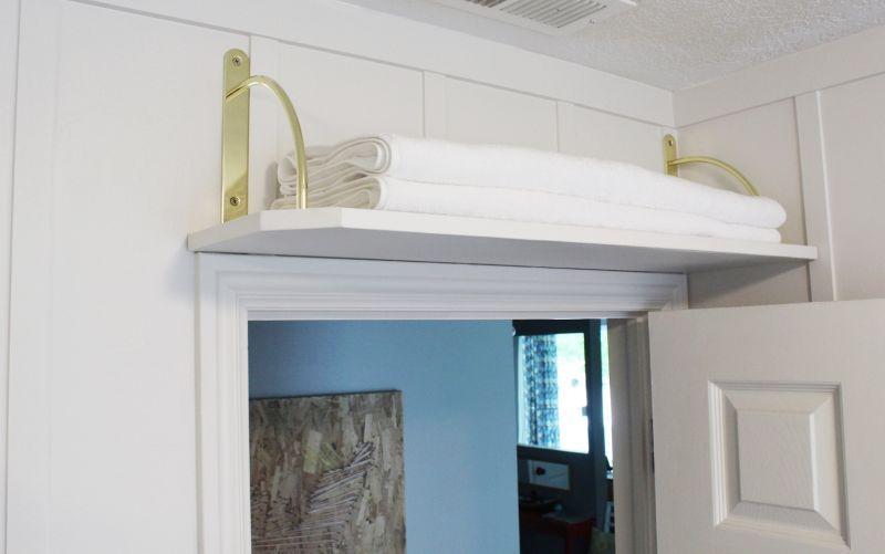 Above The Door Bathroom Storage Shelf Small Bathroom Storage Shelf Over Door Storage Spaces
