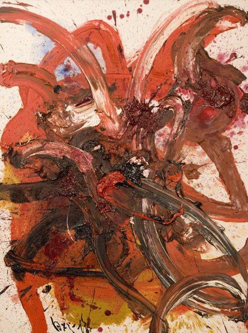 arpeggia: Kazuo Shiraga - Composition T55, 1982 See more Kazuo Shiraga posts here.