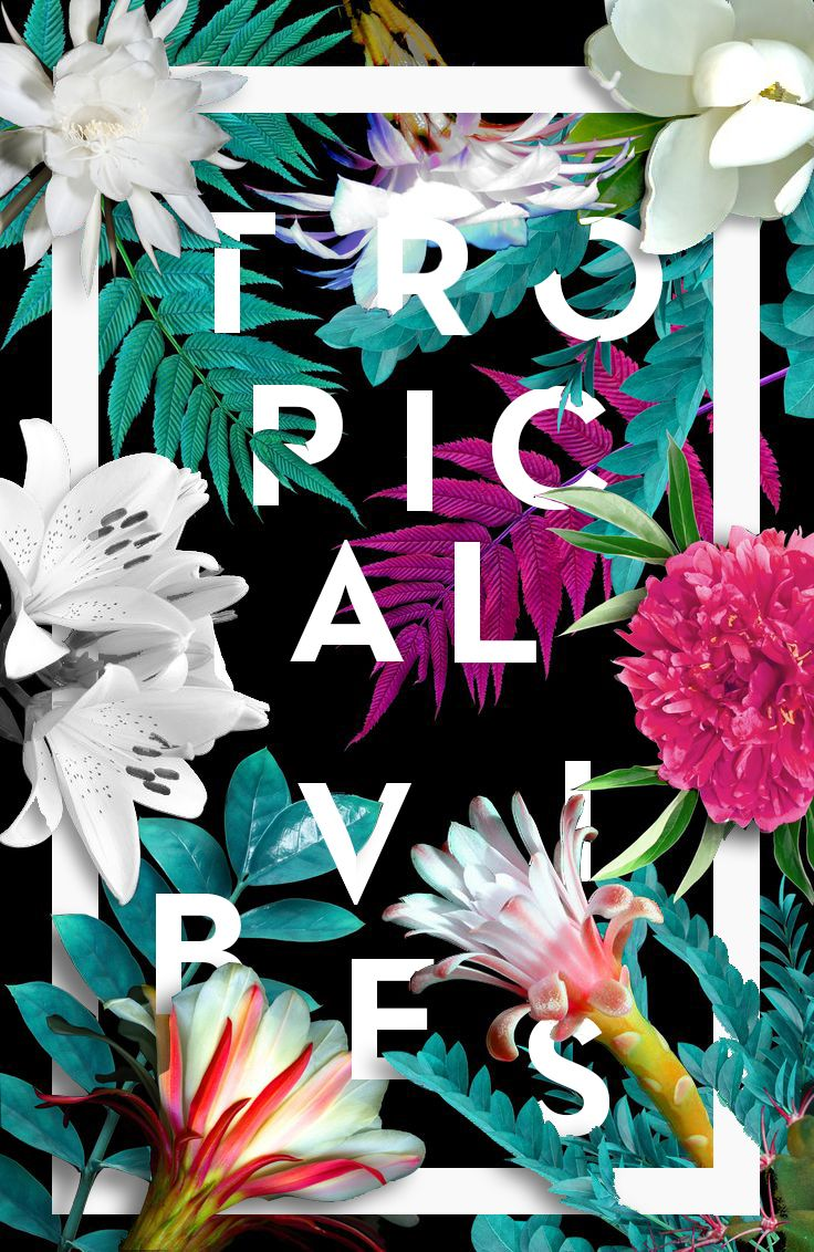 Tropical Vibes Textil Design On Behance Tropical Vibes Tropical