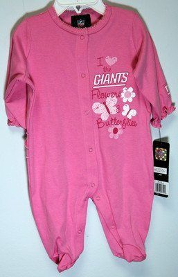3380e518d ... New York Giants Baby Pink Sleep And Play Bodysuit 0-3 Months by NFL, ...