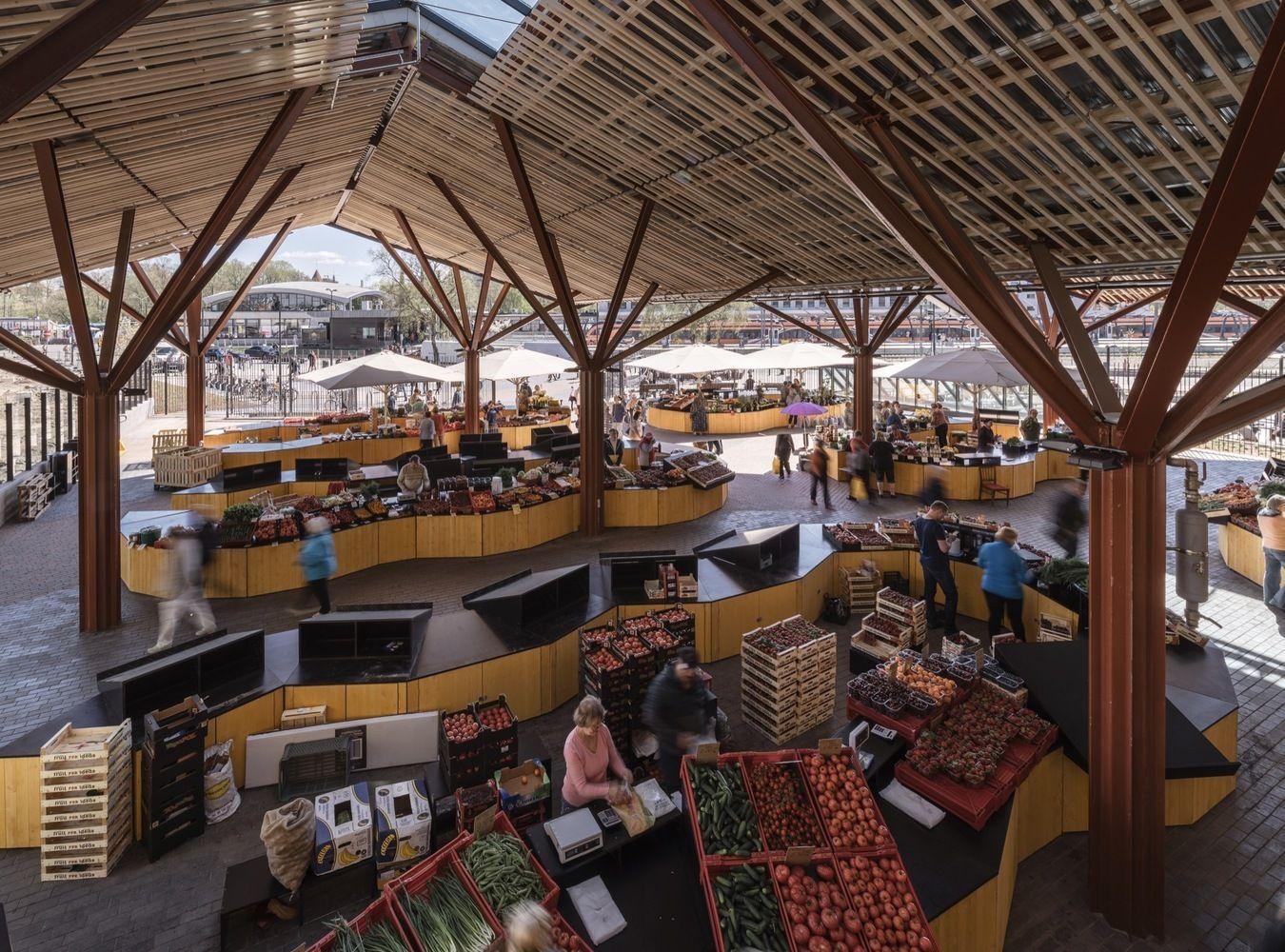Galería de Mercados: ejemplos de arquitectura en planta y sección – 6
