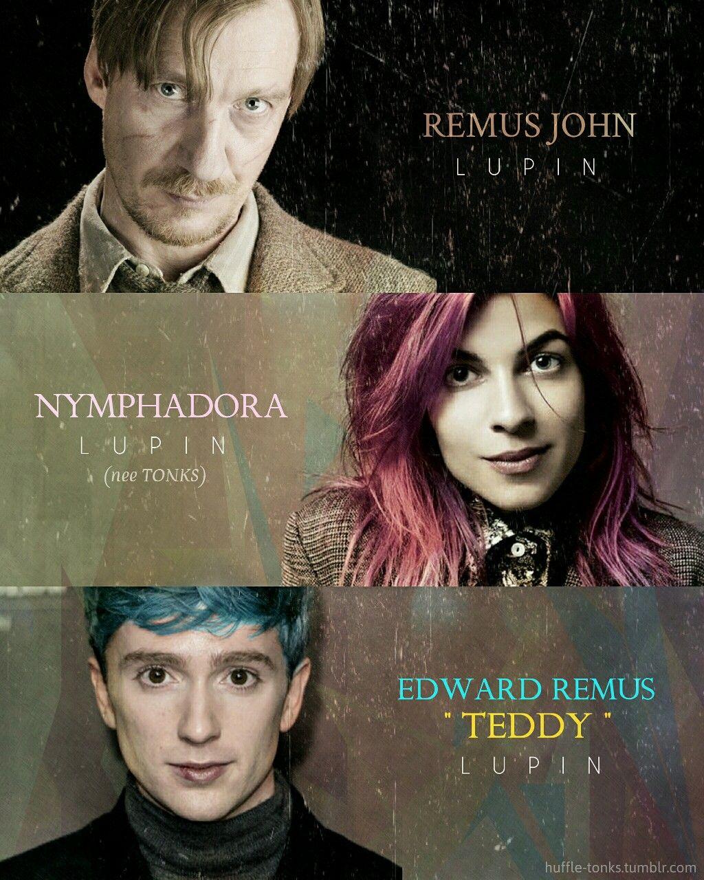 Remus Dora Teddy The Lupin Family Tonks Harry Potter Harry Potter Pictures Harry Potter Artwork