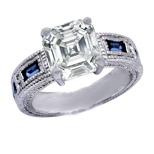 asscher diamond gems cut other info sapphire