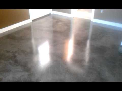 Gray brown stained concrete floors very for Black stains on concrete