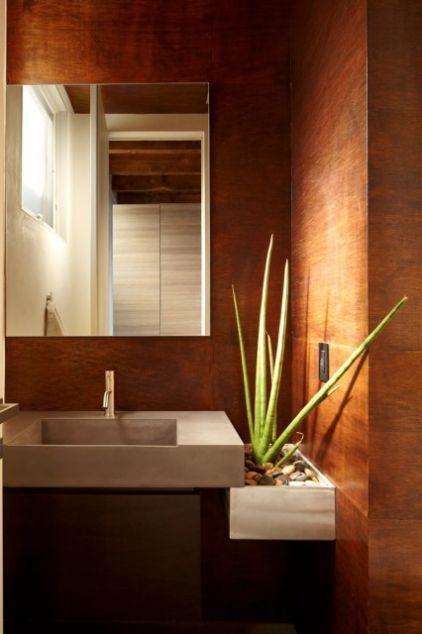 Houzz Tour Excavated Waterfront Home In New York Best Bathroom Plants Amazing Bathrooms Bathroom Plants
