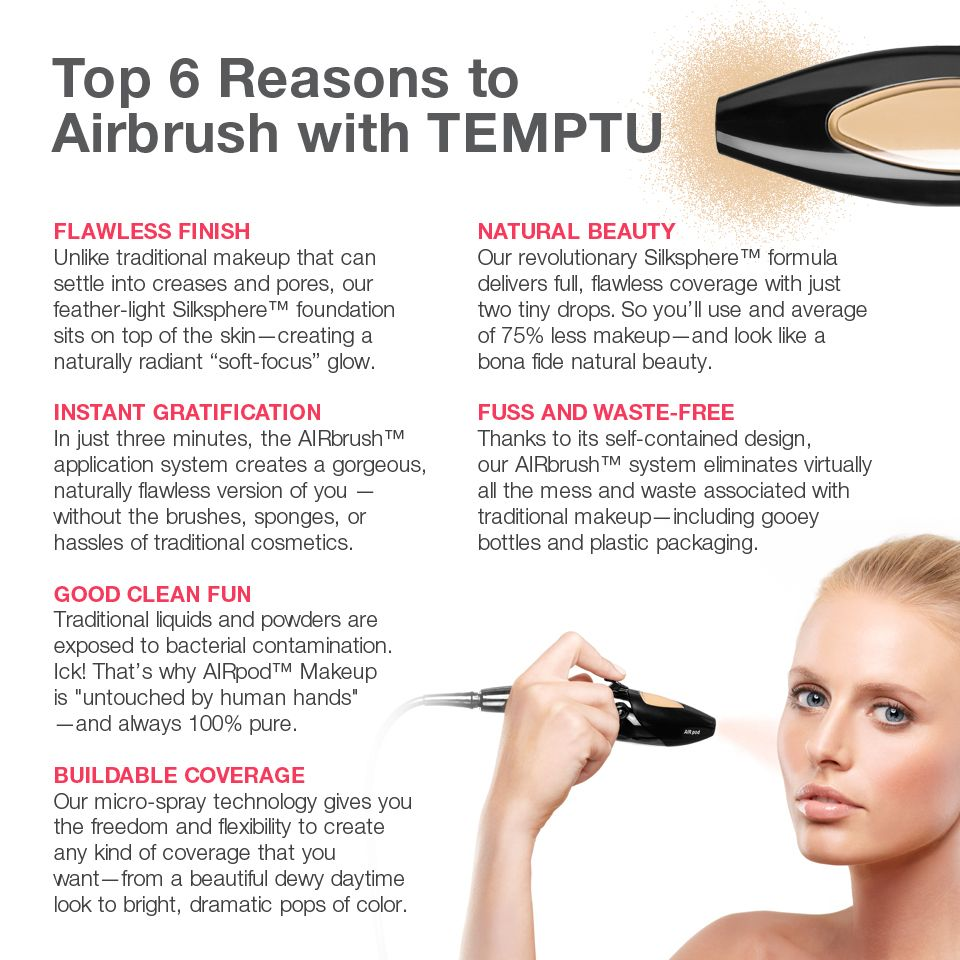 Why airbrush with TEMPTU? pageant makeup Makeup