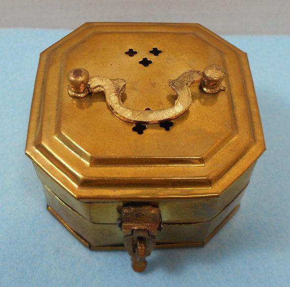 Tiny Brass Cricket Trinket Box by GrandmasTrove on Etsy
