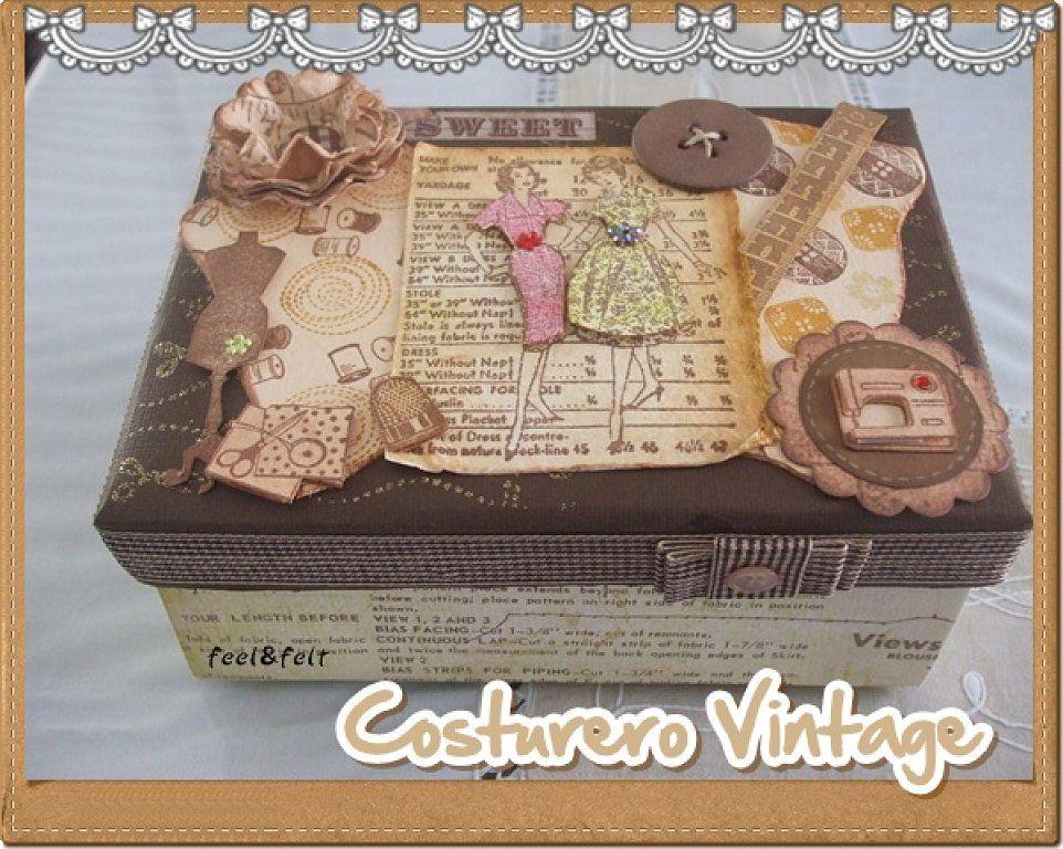 El costurero para el rinc n de costura cajas maderas - Cajas de decoracion ...