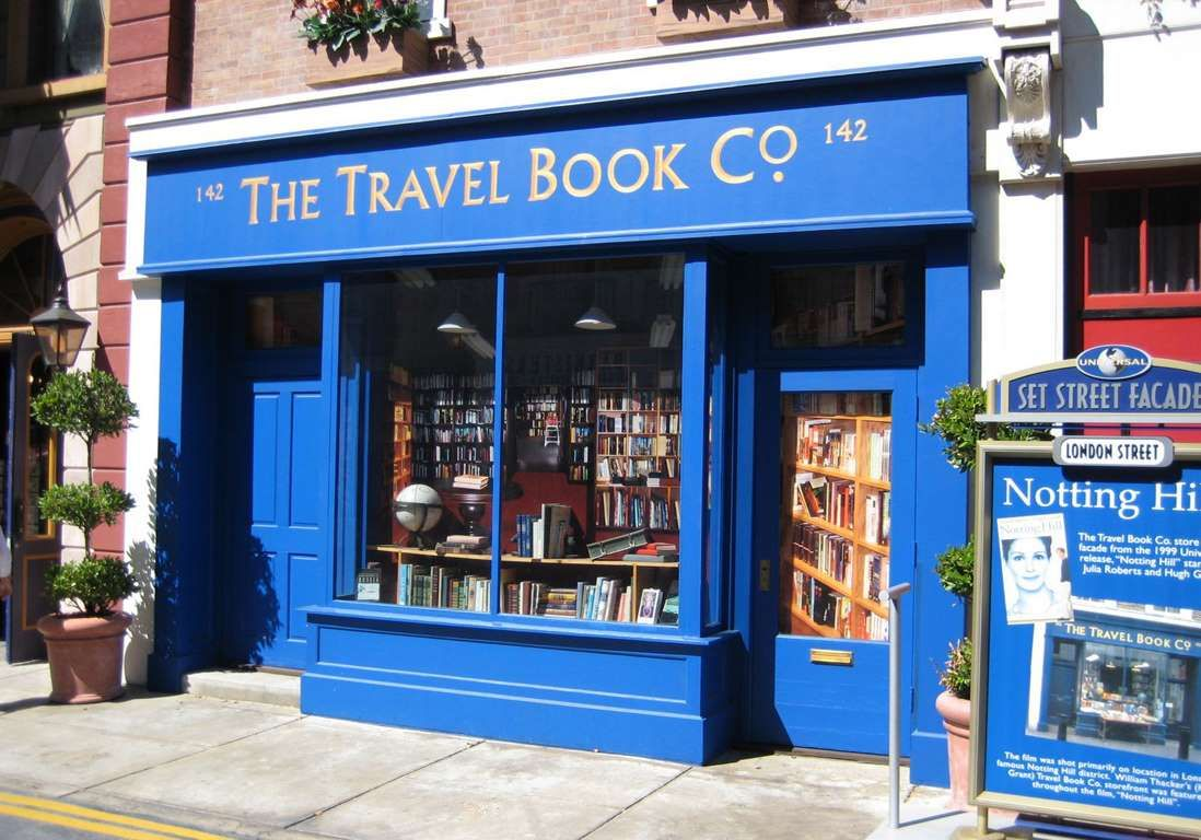 Bookshop Of 13 15 Blenheim Crescent London And In The Movie Notting Hill 1999 Librairie Londres Lieux
