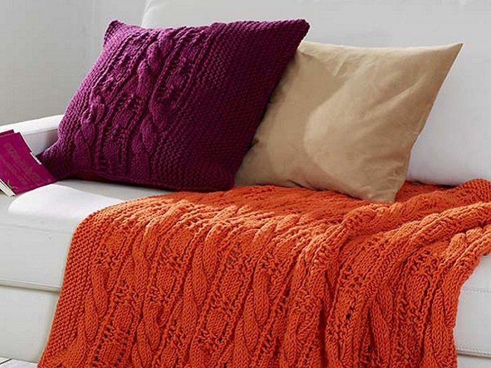 diy anleitung plaid und kissen stricken via kissen stricken kissen und anleitungen. Black Bedroom Furniture Sets. Home Design Ideas