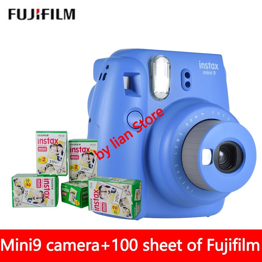 Buy US 11188 New 5 Colors Fujifilm Instax Mini 9 Instant Camera 100 Photos Fuji