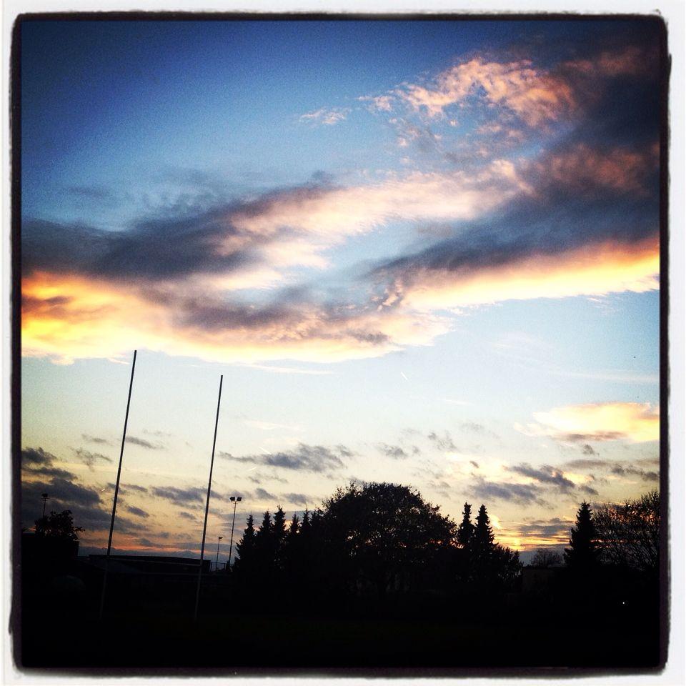 Rugby sunset. Emmen The Netherlands