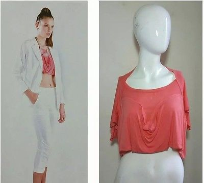 "SALLY TSENG ~SEASON MOST LOVED~ COOL CROPPED ""COTTON & MODAL"" TEE TOP NWT $236 S"