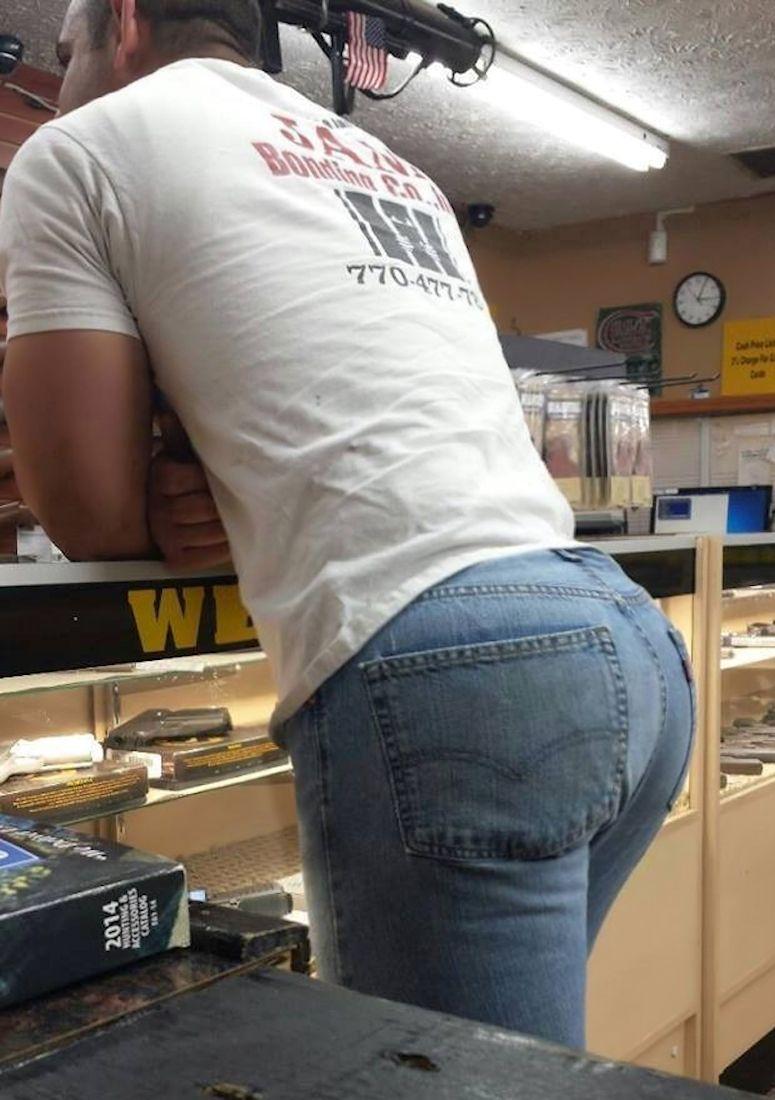 Butt fucking in jeans man