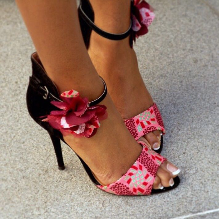 Adrianna shoes  www.laviye.com   African print heels, sexy shoes, sexy heels, ankara shoes