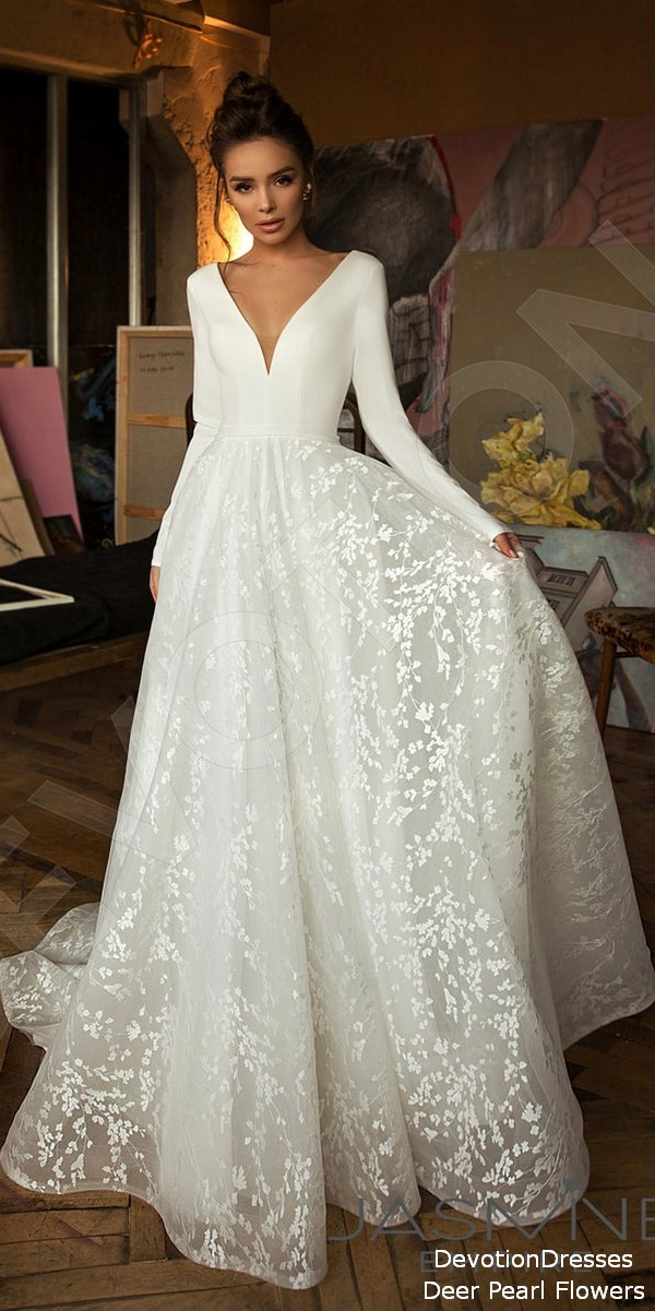 Vintage long sleeves wedding dress - Bonna - Deer Flower Shop