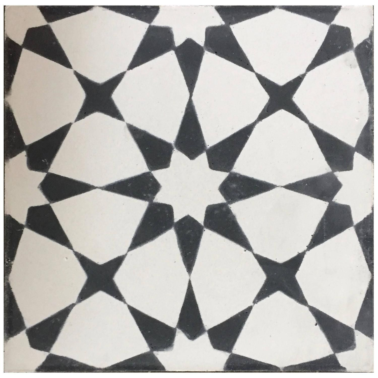 Rincon Black And White Cement Tile