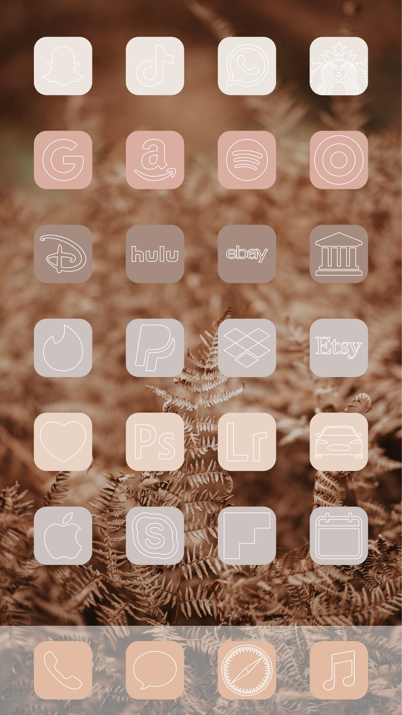 Aesthetic Nude iOS 14 App Icons Pack - 432 Icons -