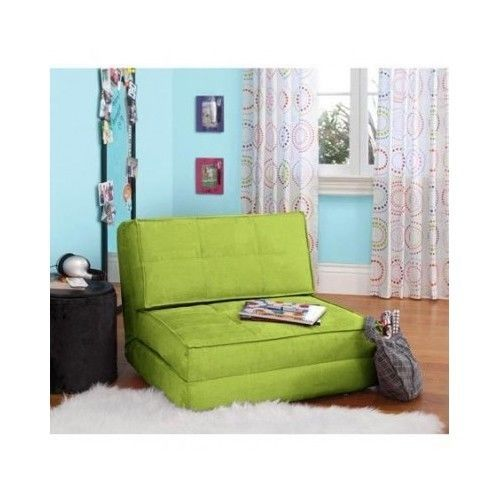 Floor Gaming Chair Dorm Couch Futon Furniture Flip Sofa Bed Sleeper Mat Green