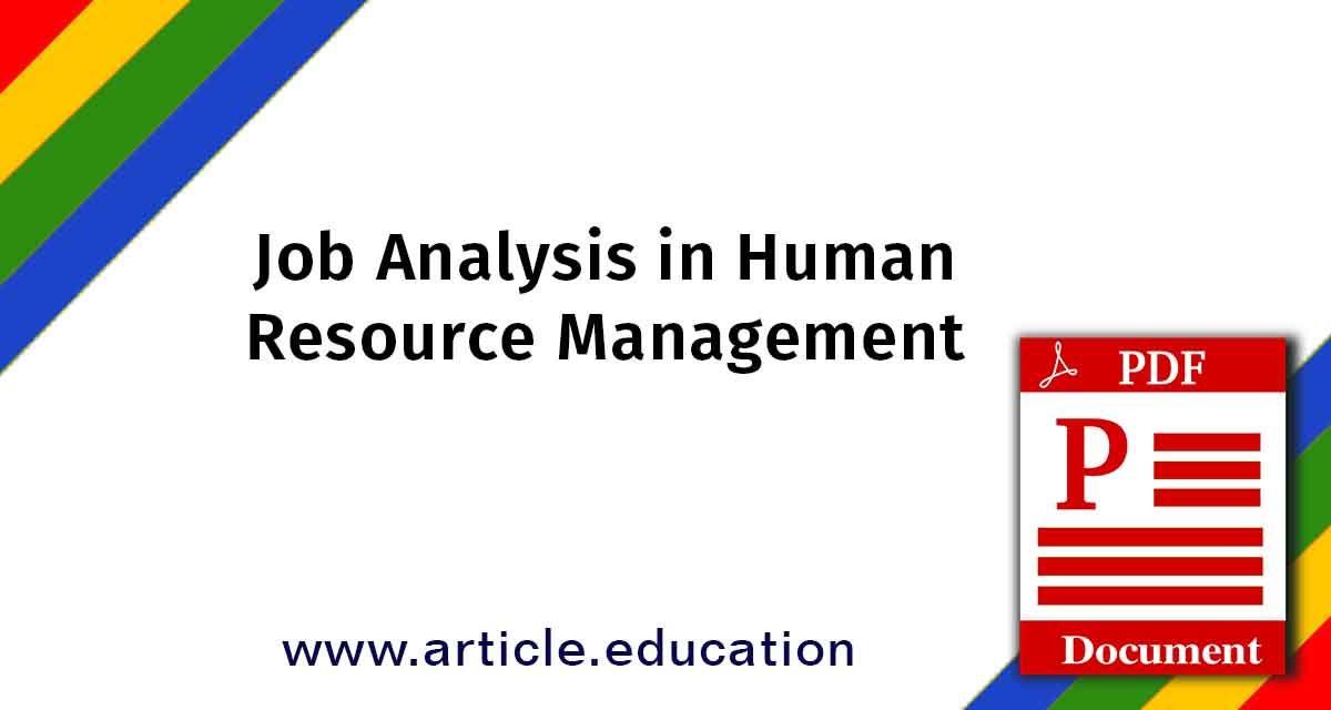 Job Analysis in HRM Tutorial PDF   Job analysis, Analysis ...