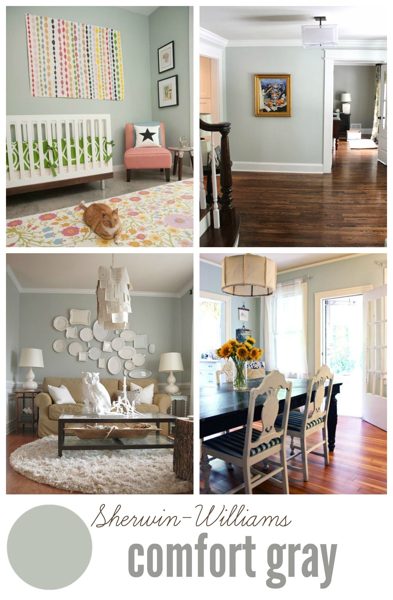 Choosing neutral paint colors paint the walls and more - Sherwin williams comfort gray living room ...
